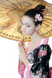 The girl with make-up of Japanese Royalty Free Stock Image