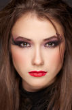 Beautiful girl with make-up style halloween Royalty Free Stock Image