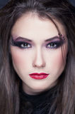 Beautiful girl with make-up style halloween Stock Image