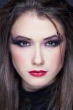 Beautiful girl with make-up style halloween Stock Image