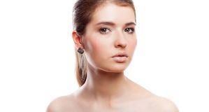A beautiful girl with make-up Royalty Free Stock Images