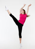 Beautiful girl making fitness exercise Royalty Free Stock Images