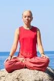 Beautiful girl making yoga exercise Royalty Free Stock Image