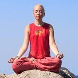 Beautiful girl making yoga exercise Royalty Free Stock Photo
