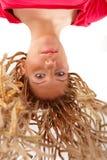 Beautiful girl many plaits hairstyle Stock Photo