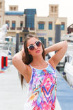 Beautiful girl at Marina Dubai Royalty Free Stock Image