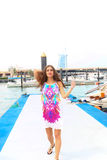 Beautiful girl at Marina - Dubai Stock Images