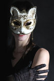 Beautiful girl in mask Royalty Free Stock Photo
