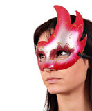 Beautiful girl with mask Stock Photo