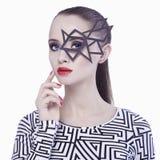 Beautiful girl in mask Stock Photos