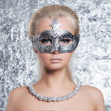 Beautiful girl in mask Stock Photography
