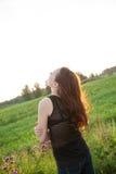 Beautiful girl in the meadow Stock Image