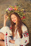 Beautiful girl in meadow Royalty Free Stock Photo
