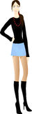 Beautiful girl in mini skirt Royalty Free Stock Image