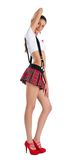 Beautiful girl in mini-skirt Royalty Free Stock Image
