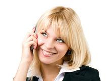 Beautiful girl with mobile phone Royalty Free Stock Photos