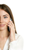 Beautiful girl with mobile phone Royalty Free Stock Image