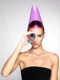 Beautiful girl model beauty face skin concept Stock Photos