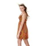Beautiful girl model in summer dress Royalty Free Stock Image
