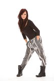 Beautiful girl modelling urban fashion clothes Stock Photography