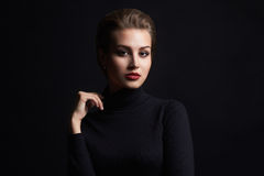 Beautiful girl with mole on her face Royalty Free Stock Photo