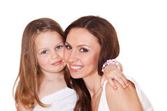 Beautiful girl and mother Royalty Free Stock Photos