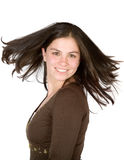 Beautiful girl with moving hair Stock Image