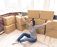 Beautiful girl moving Stock Photography