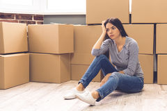 Beautiful girl moving Stock Photo