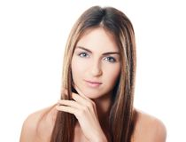 The beautiful girl with natural make-up Royalty Free Stock Image
