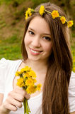 Beautiful girl in nature Stock Photos