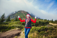 Beautiful girl on the nature Royalty Free Stock Images