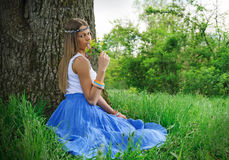 Beautiful girl in the nature Royalty Free Stock Photography
