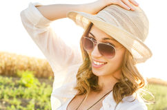 Beautiful girl in nature Royalty Free Stock Image