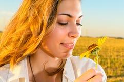 Beautiful girl in nature Stock Image