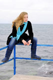 The beautiful girl near the sea Royalty Free Stock Images