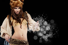 Beautiful  girl in New Year concept. Royalty Free Stock Photos