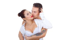 Beautiful  girl with a nice guy Royalty Free Stock Photography