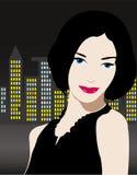 Beautiful girl in night city Stock Photo