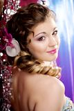Beautiful girl in a nightclub Royalty Free Stock Image