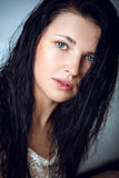 Beautiful girl with no make-up Royalty Free Stock Photo