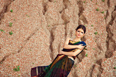 Beautiful girl with oriental styling Royalty Free Stock Image