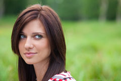 Beautiful girl out in the park Stock Photography