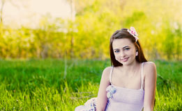 Beautiful girl outdoor Royalty Free Stock Photo
