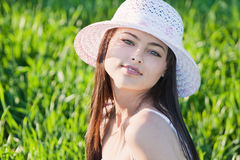 Beautiful girl outdoor Stock Image