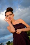 Beautiful girl outdoor portrait Stock Photography