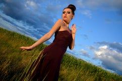 Beautiful girl outdoor portrait Stock Images