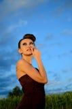Beautiful girl outdoor portrait Stock Photo