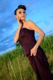 Beautiful girl outdoor portrait Stock Image