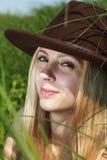 Beautiful girl outdoors. Stock Photos